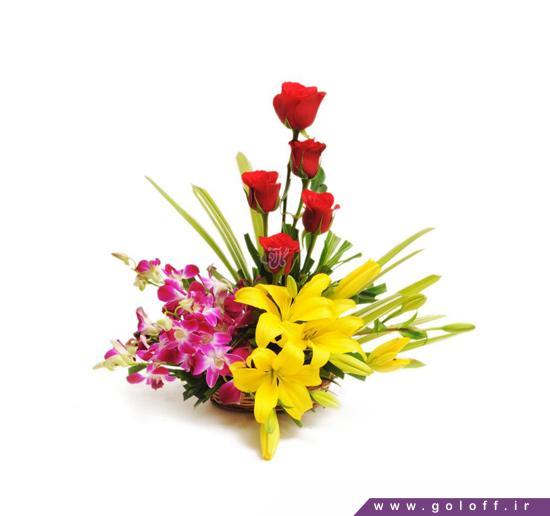 سبد گل ارکیده - سبد گل کارمِن - Karmen | گل آف
