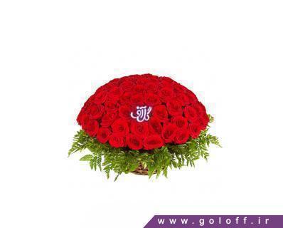 سبد گل طبیعی - سبد گل رز هلندی امیلیو - Emilio | گل آف