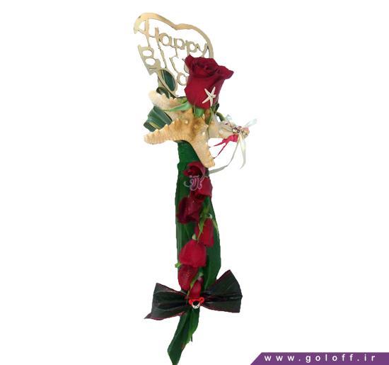 عکس گل رز قرمز عاشقانه - گل تک شاخه کلودیا - Klaudia | گل آف