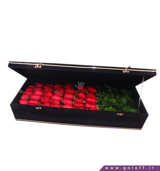 جعبه گل ولنتاین بارتین - خرید جعبه گل لاکچری | گل آف خرید آنلاین گل