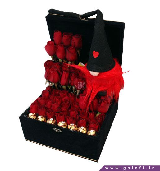جعبه گل ولنتاین زیله - خرید گل ولنتاین | گل آف فروش آنلاین گل