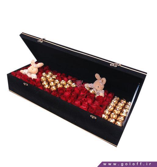 جعبه گل ولنتاین بولو - خرید آنلاین گل ولنتاین | گل فروشی آنلاین گل آف