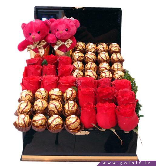 گل ولنتاین ورچکا - خرید جعبه گل رز و عروسک | گل آف فروش آنلاین گل