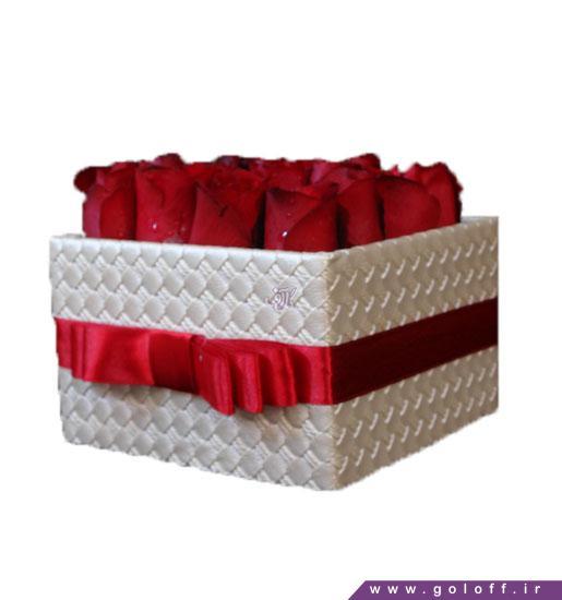 جعبه گل ولنتاین آدانا - خرید آنلاین گل ولنتاین | گل فروشی گل آف اصفهان