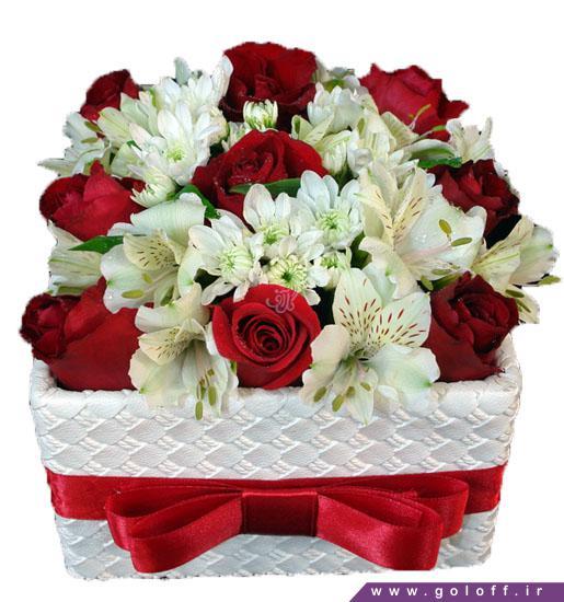 جعبه گل ولنتاین میداس - سفارش گل ولنتاین   گل فروشی آنلاین گل آف