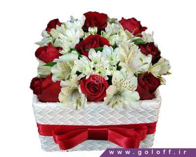 جعبه گل ولنتاین میداس - سفارش گل ولنتاین | گل فروشی آنلاین گل آف